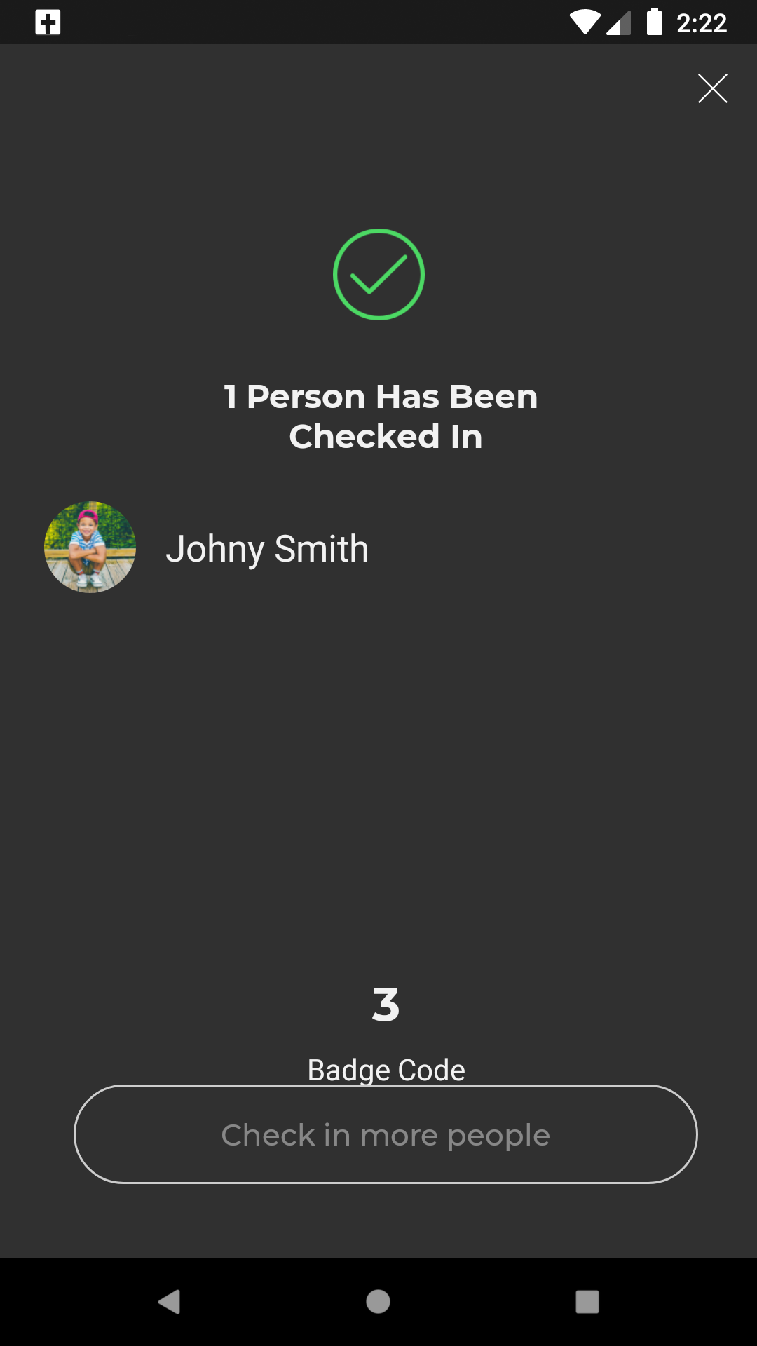 completed self check-in